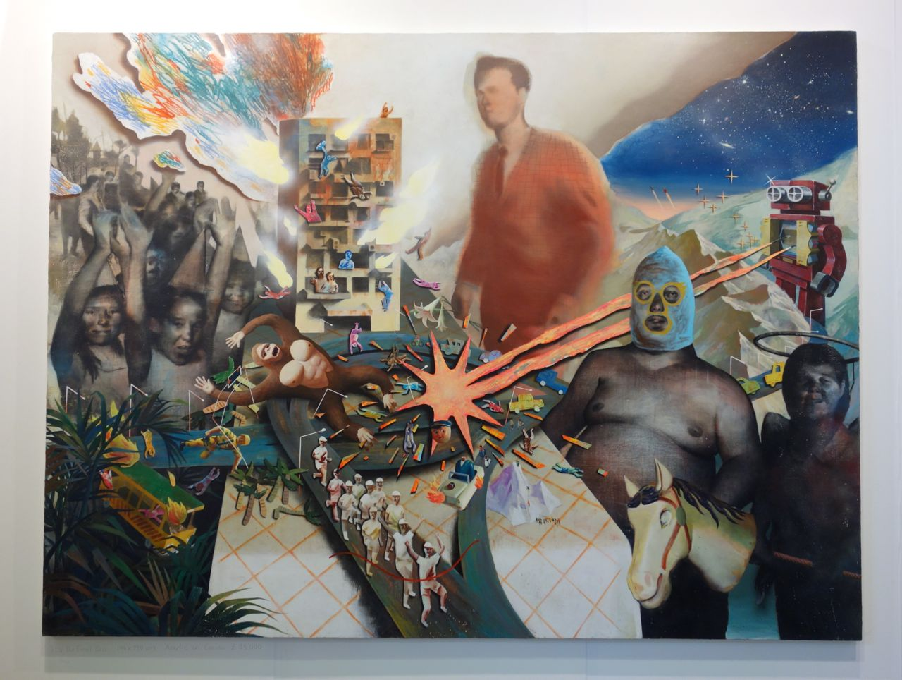 Lai Wei-Yu, 'It's the Final Boss!', 2015, Acrylic on canvas, 194 x 259 cm, Yiri Arts (Taiwan)