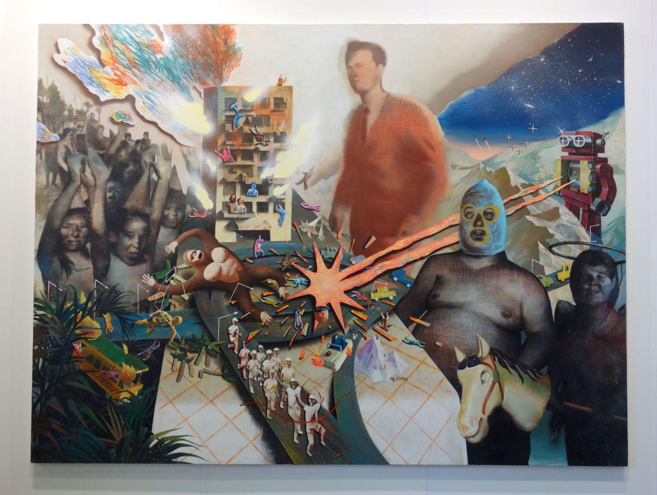 Lai Wei-Yu, 'It's the Final Boss!', 2015, Acrylic on canvas, 194 x 259 cm, Yiri Arts (Taiwan)