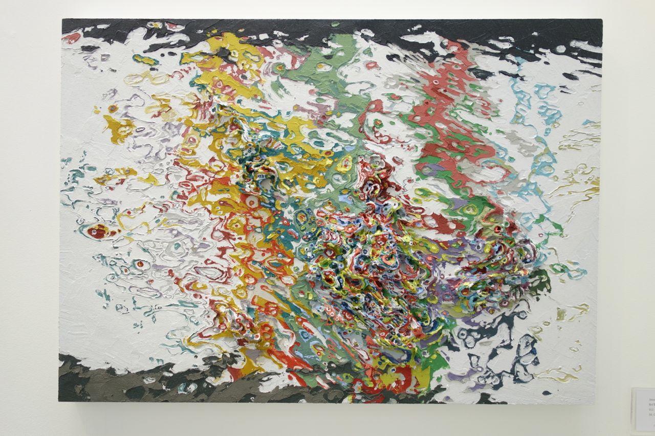 Anne Kagioka Rigoulet, 'Reflection k-t-15', 2016, Oil and mixed media on panel, 50 x 70 cm, Sakurado Fine Arts (France / Japan)