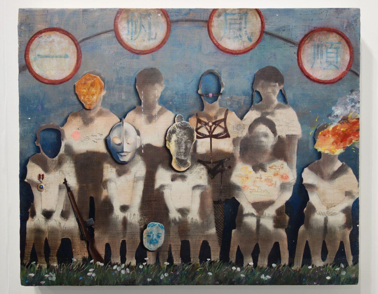 Lai Wei-Yu, 'Plain Sailing', 2016, Acrylic and charcoal on canvas, 53 x 65 cm, Yiri Arts (Taiwan)