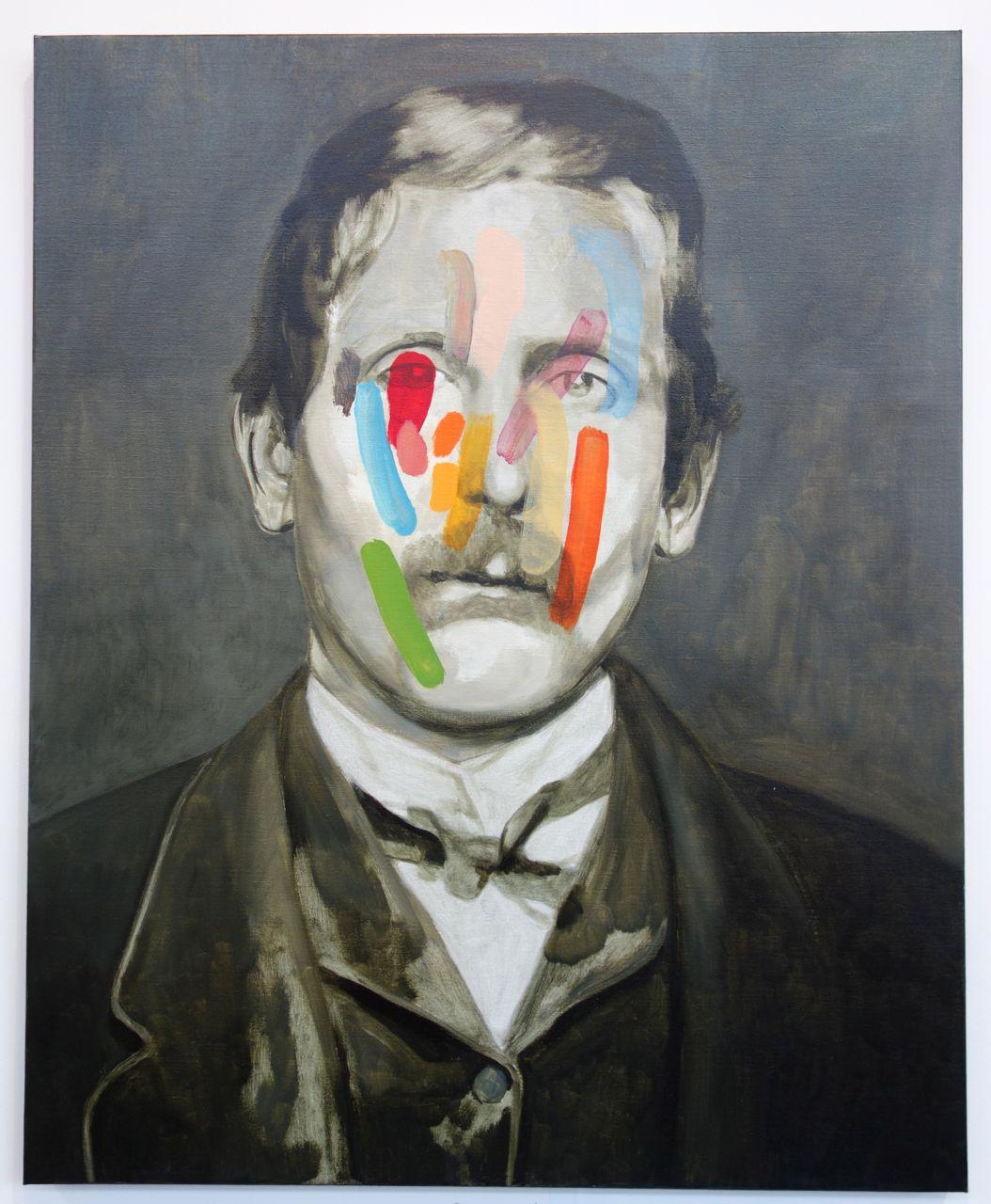 Guim Tió Zarraluki, 'No Name #5', 2016, Oil on linen, 100 x 81 cm, Yiri Arts (Taiwan)
