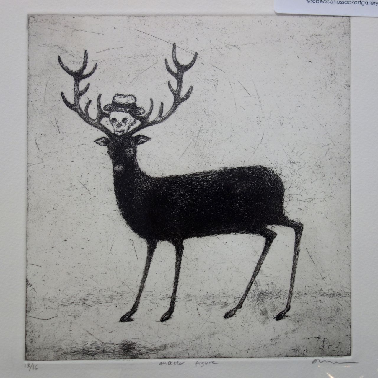 Alasdair Wallace, 'Ancestor Figure', 2012, Etching. Rebecca Hossack Art Gallery (London / New York)