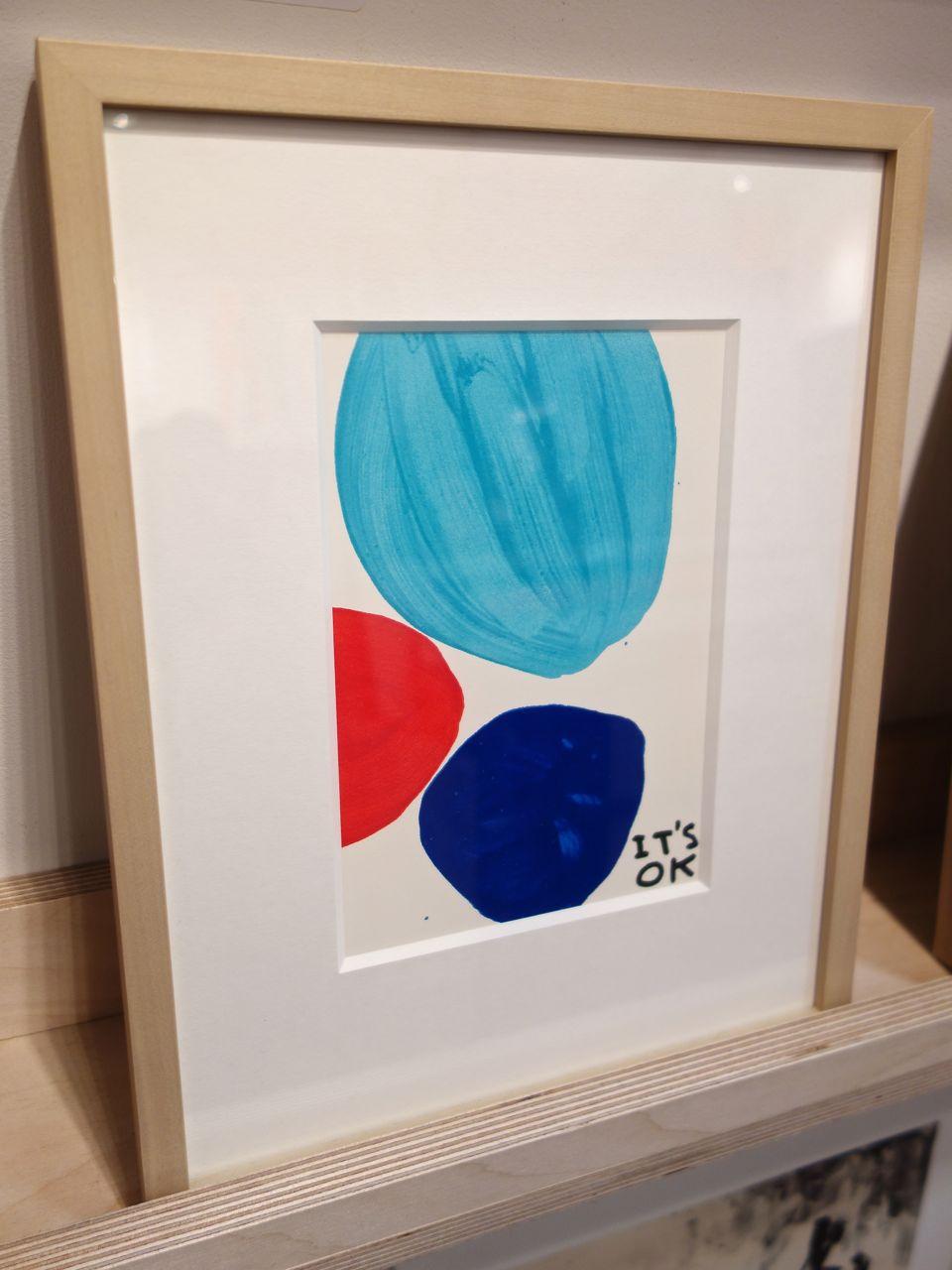 David Shrigley, 'It's OK', 2016, 10-colour screenprint, 20.8 x 14.5 cm. Jealous Gallery (London)