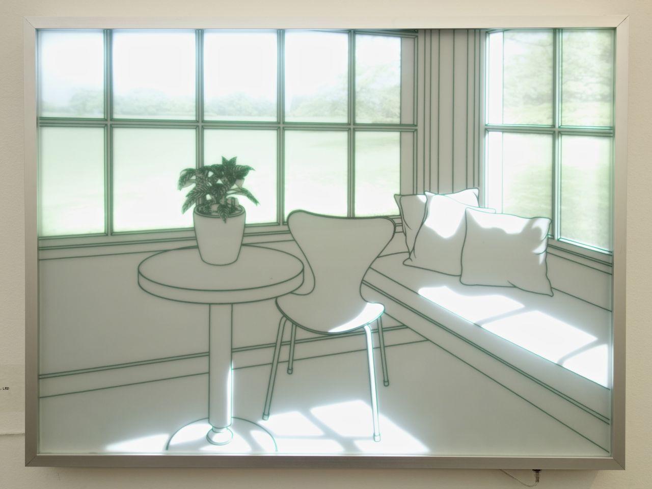 Sun Tae Hwang, 'The Sunny Room', Tempered glass, sandblast and LED, 31 x 67 x 4.5 cm. Gallery Tableau (Seoul, South Korea)