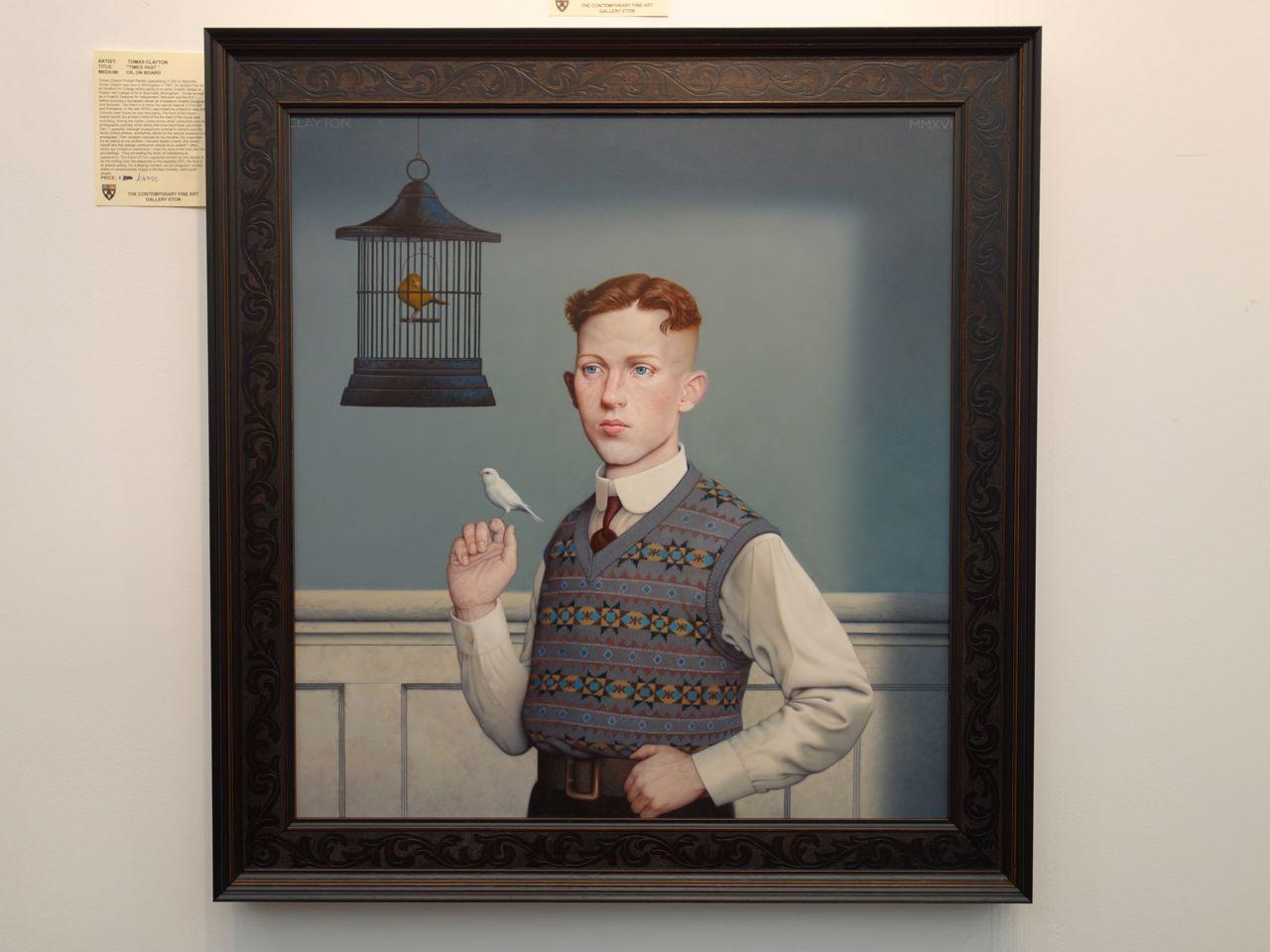 Tomas Clayton, 'French Windows', Oil on board, 60 x 60 cm. The Contemporary Fine Art Gallery Eton (Eton)