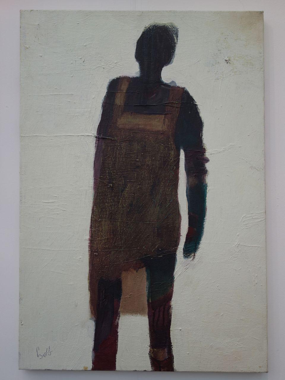 Jozsef Csato, 'Black and White', 2012, Oil on canvas, 68 x 46 cm. Z10 / Zsofi Postyn (London)
