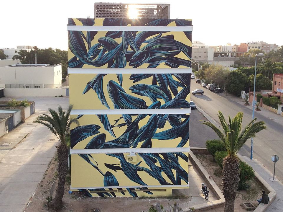 Pantonio for Street Art Caravan in Safi, Morocco.