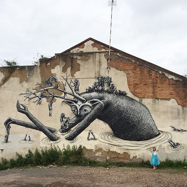 Phlegm for the Colours Festival in Digbeth, Birmingham in England.