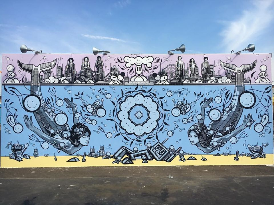 The London Police for the Coney Art Walls in Coney Island, NY.