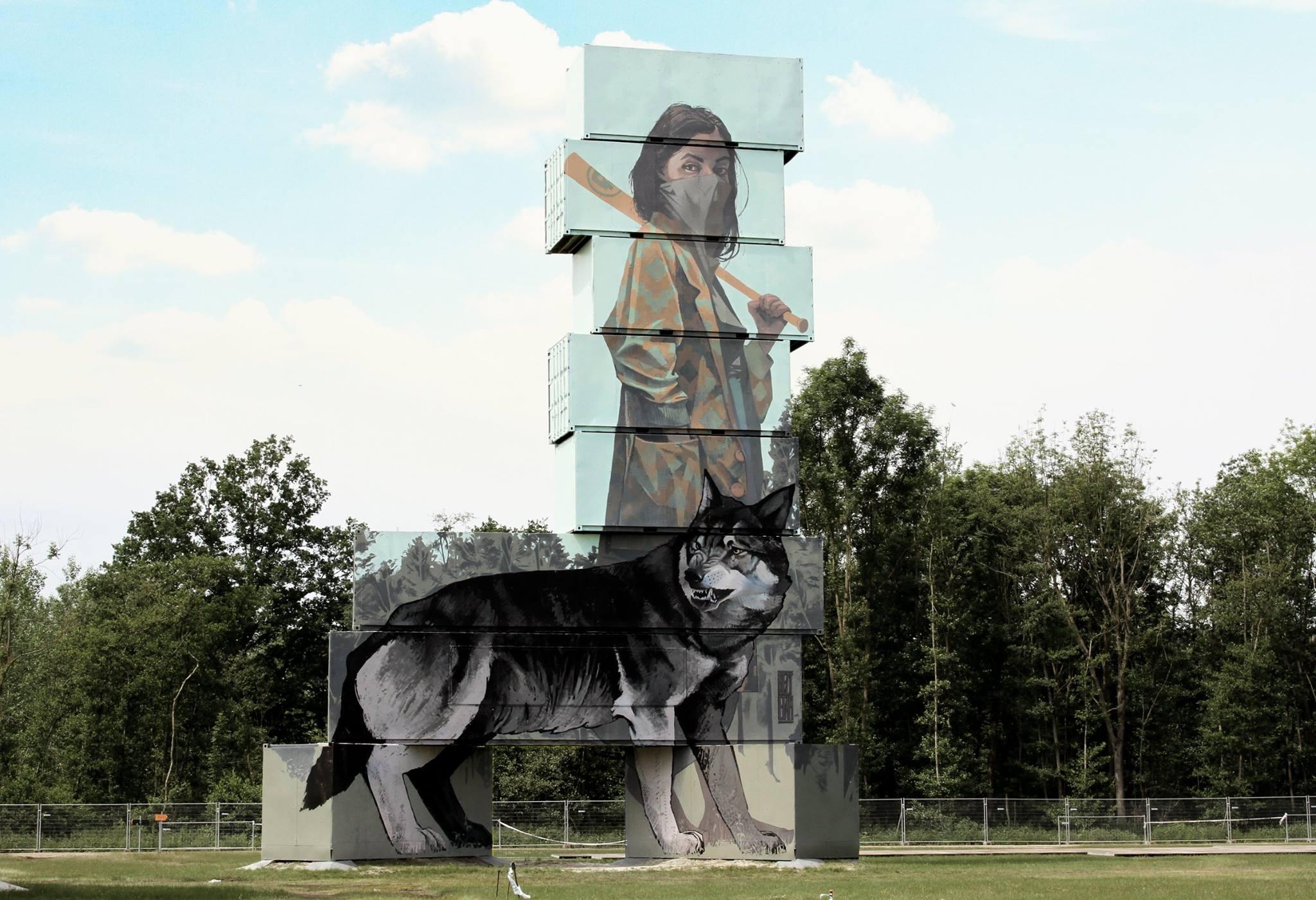 "Bezt from Etam Cru - ""Wolves"" for North West Walls, in Werchter, Belgium."