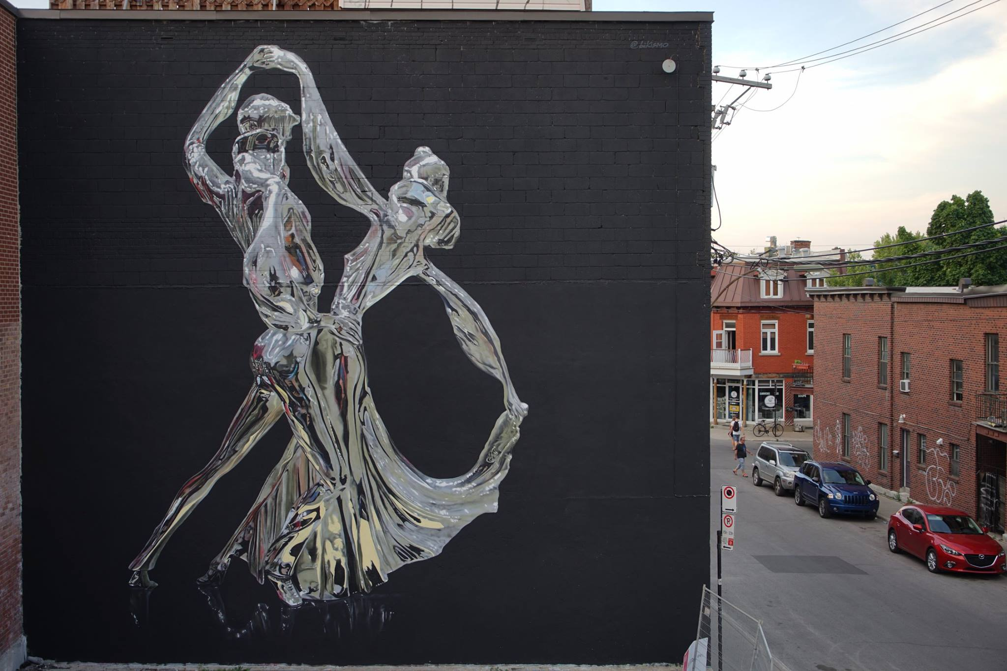 Bik Ismo for Mural Festival in Montreal. Photo by @halopigg.
