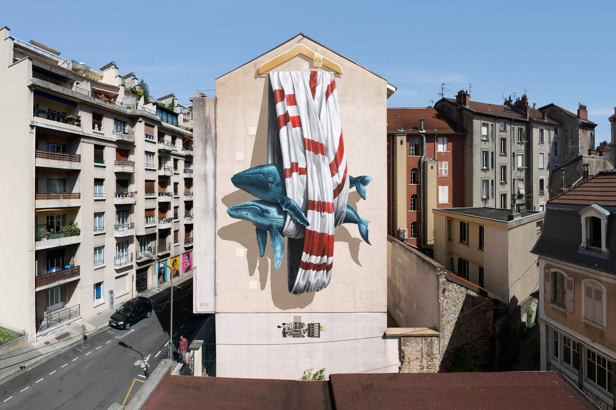 Nevercrew in Grenoble, France for the Grenoble Street Art Fest.