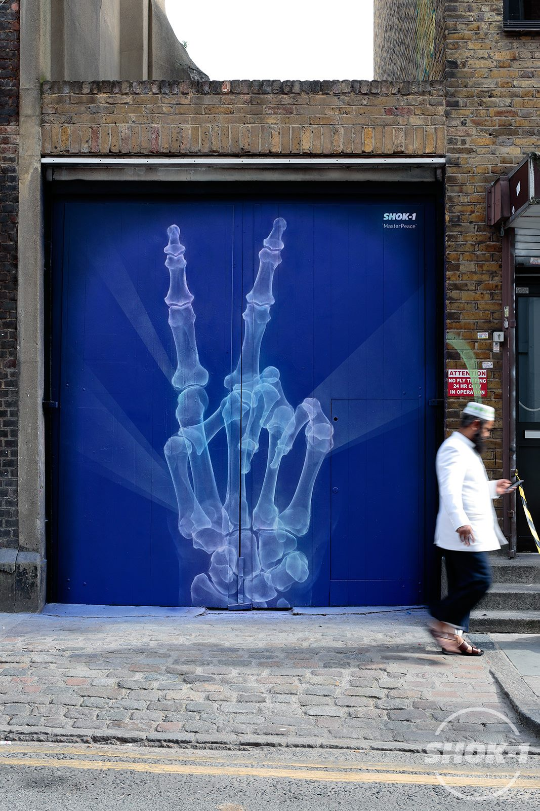 "Shok-1 - ""MasterPeace"" painted in response to hostilities arriving form the UK's EU referendum."
