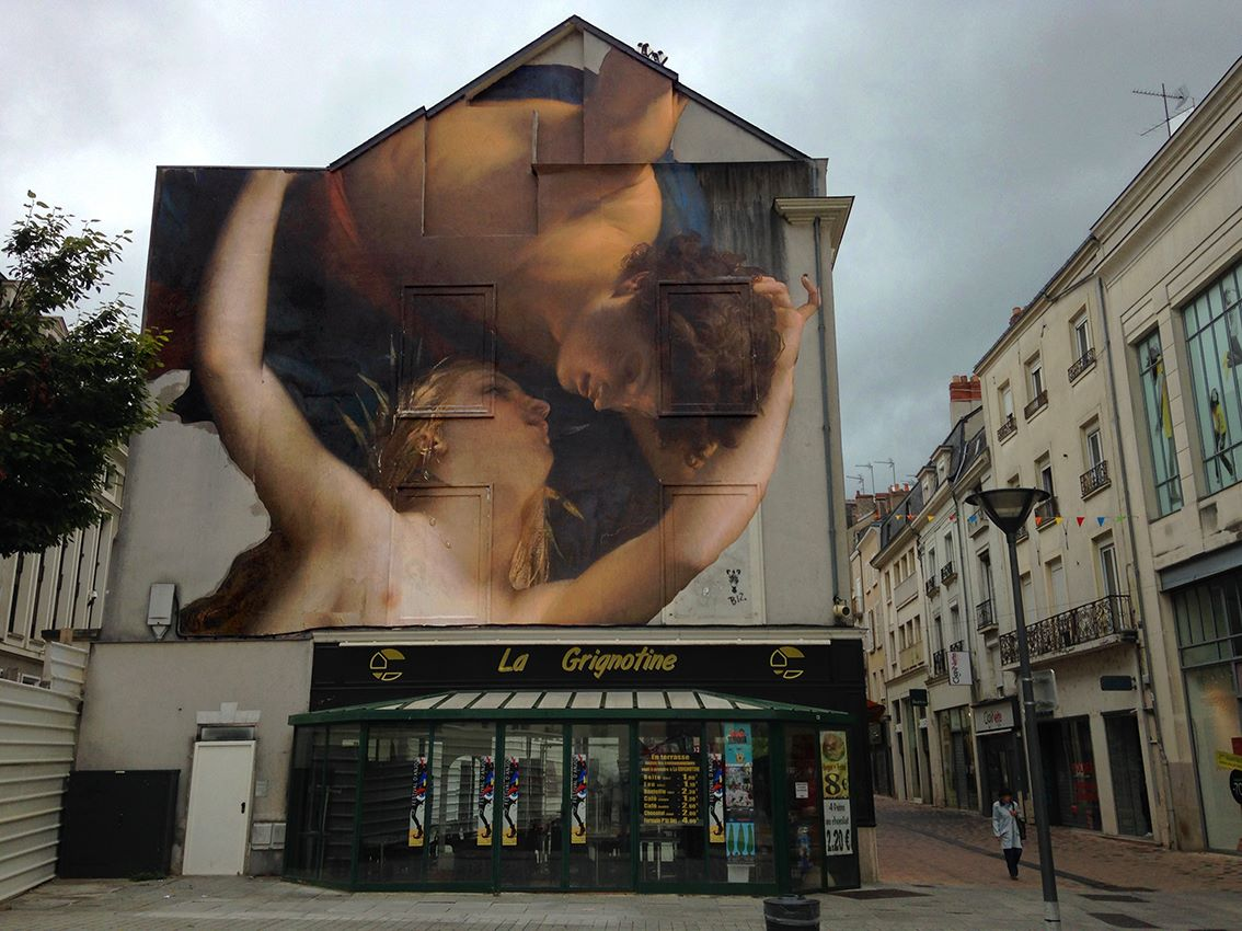 Outings Project in Angers, France. Via StreetArtNews.