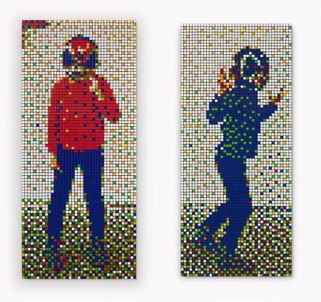 Rubik Blue Kid and Rubik Red Kid