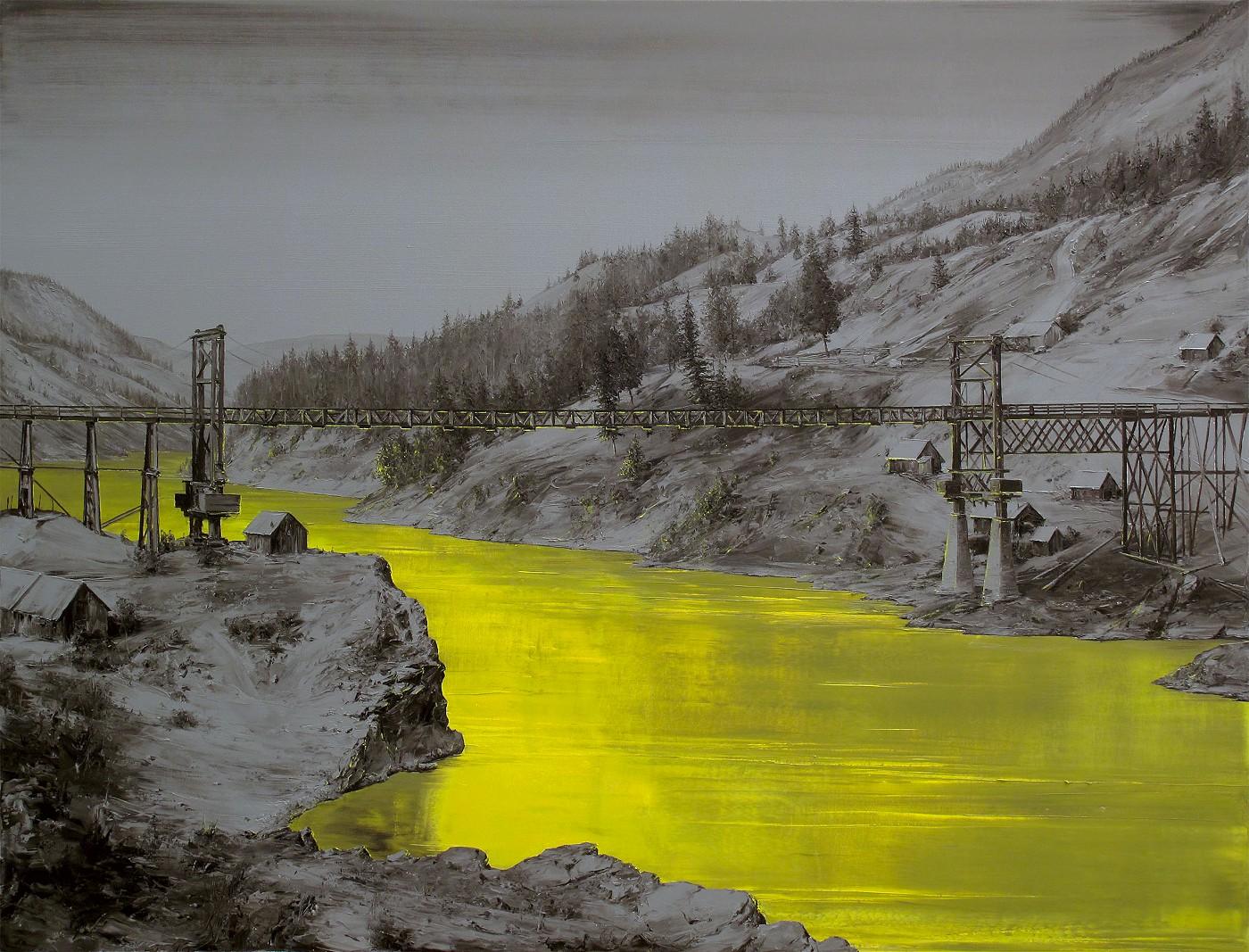 El puente (Óleo sobre lienzo. 130 x 170 cms. 2016)