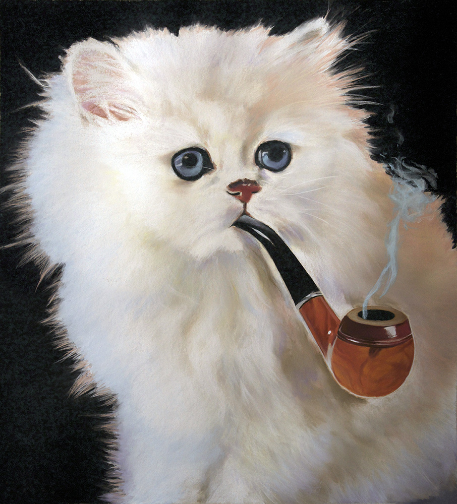 2017_This_Is_Not_A_Cat_Smoking_A_Pipe_(ce ñ'est pas un chat fumant une pipe)_53x48