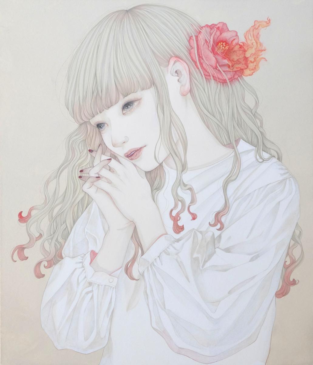 Yuka Sakuma 'Sink' (ink on paper (black ink rock paint on hemp paper), 20.8 x 17.9 inches)