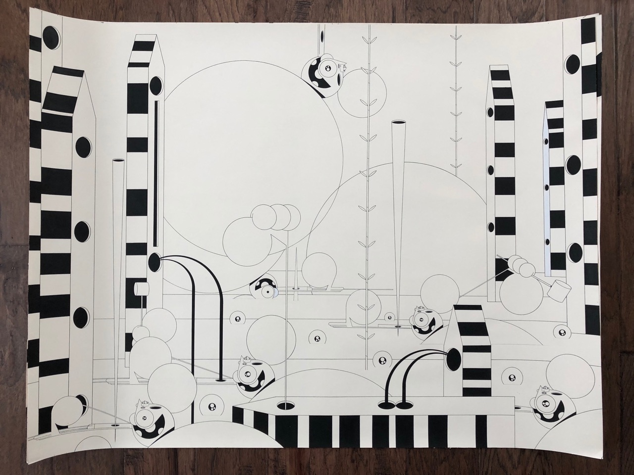 Dalek_Large-Drawing-3-30x40