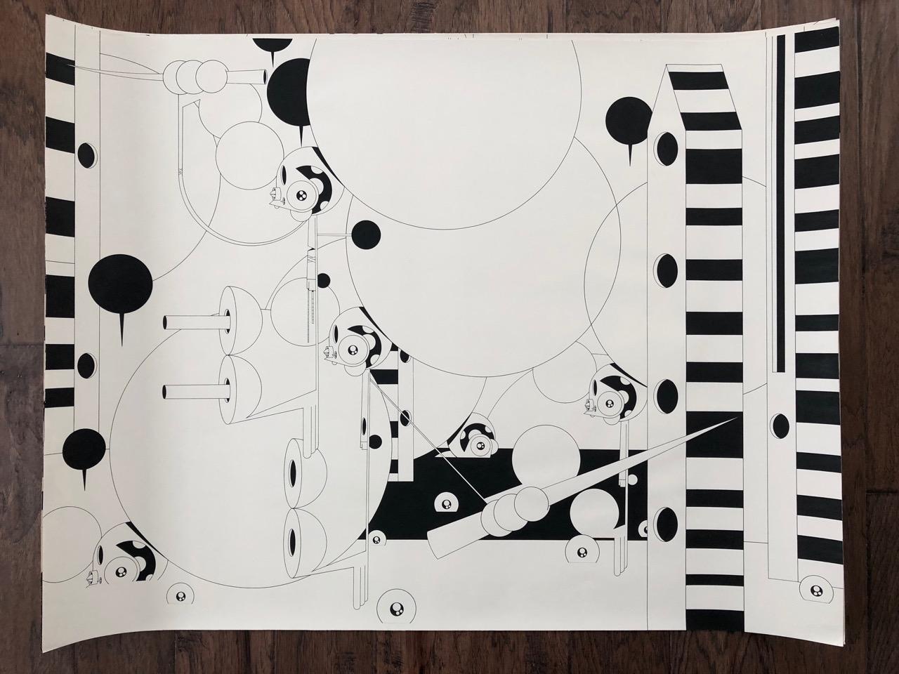 Dalek_Large-Drawing-4-30x40
