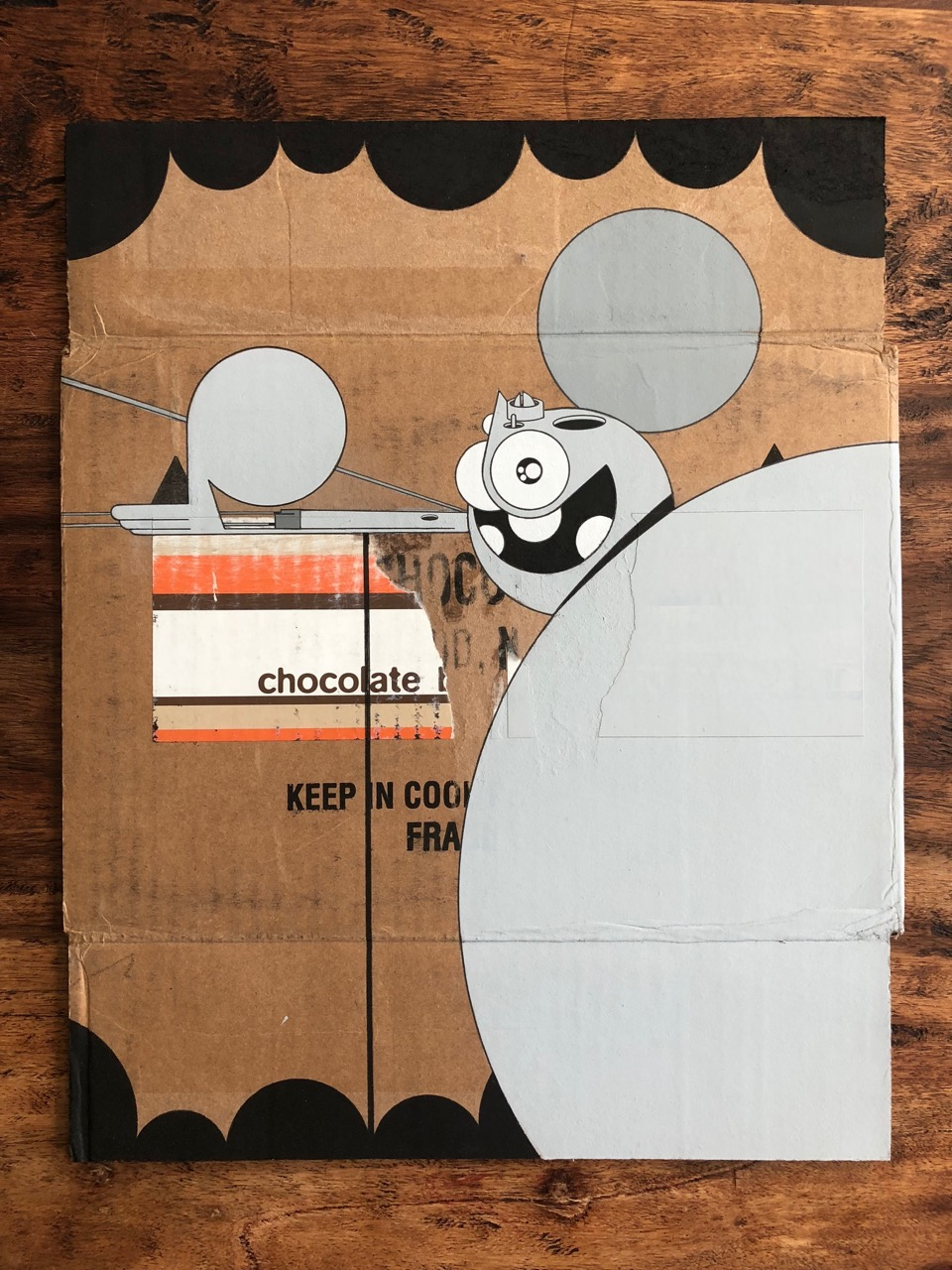 Dalek_Older-Work-on-Cardboard-2-14x20