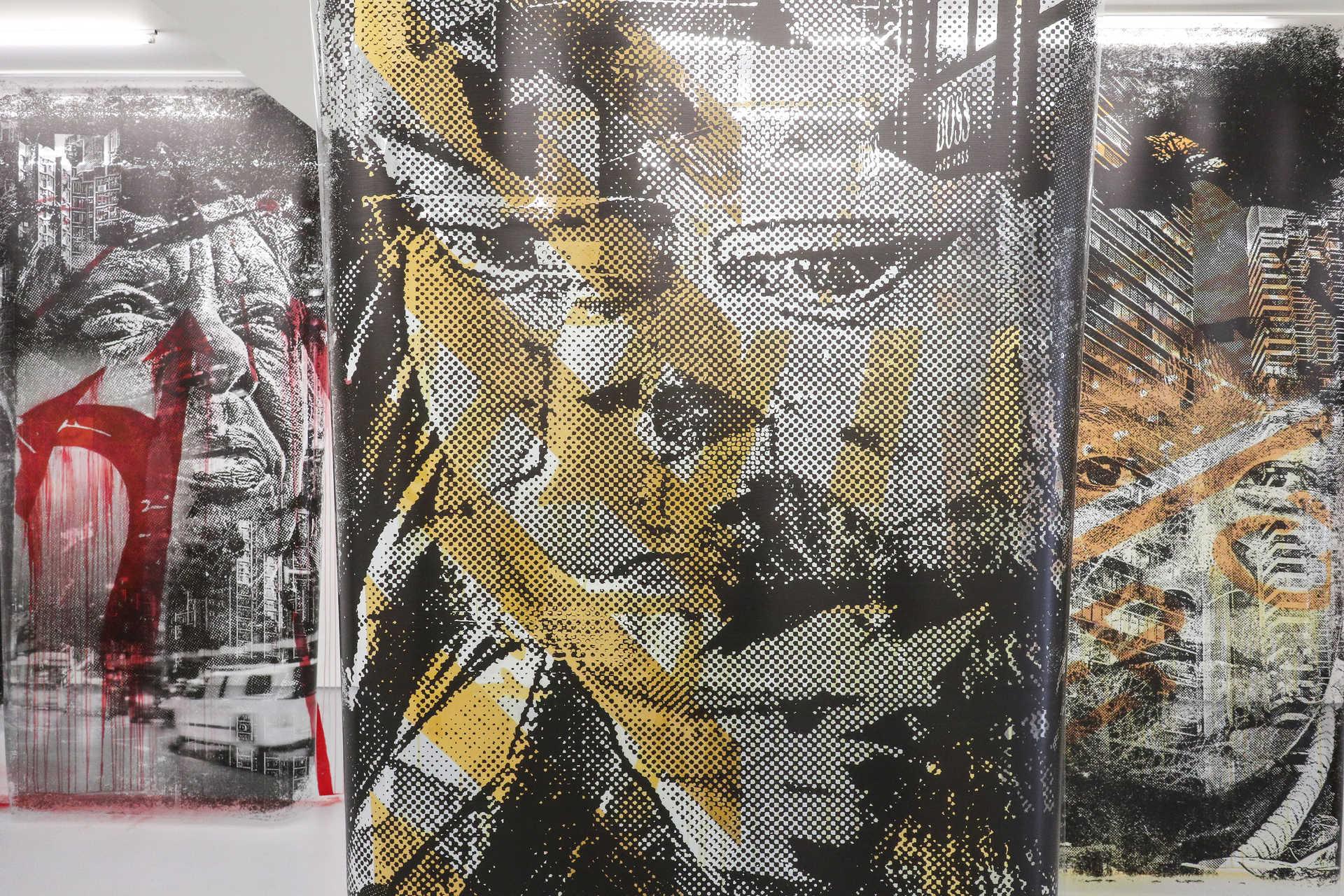 Exposição de Vhils na galeria Vera Cortês