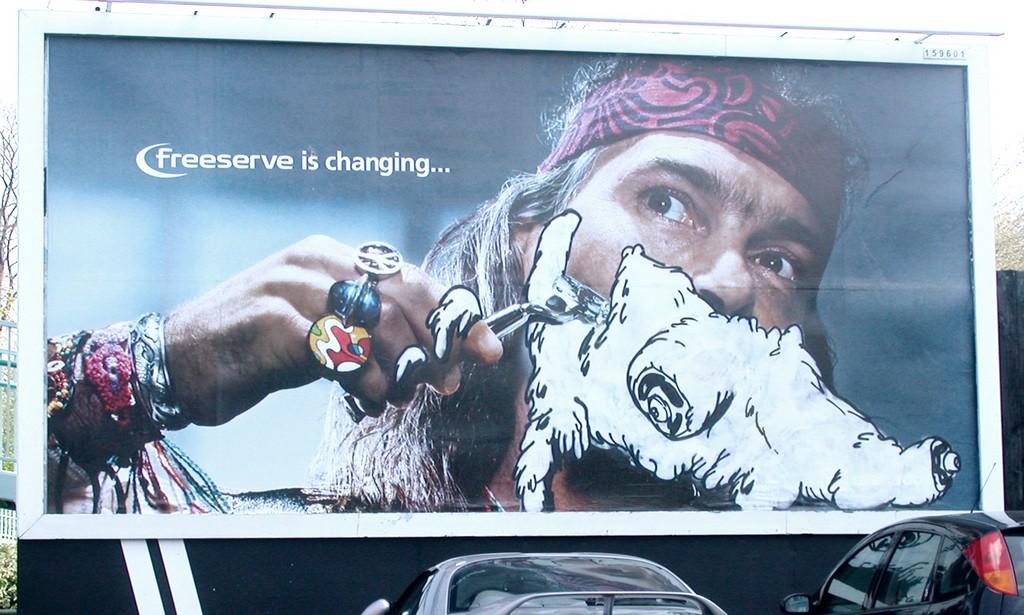 Mudwig - Altered Billboard, Bristol c. 2003