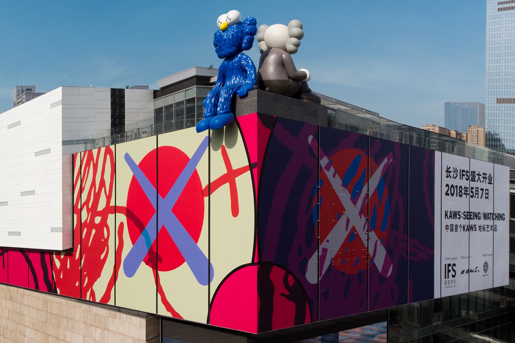 kaws-seeing-watching-changsha-ifs-permanent-sculptures-china-2