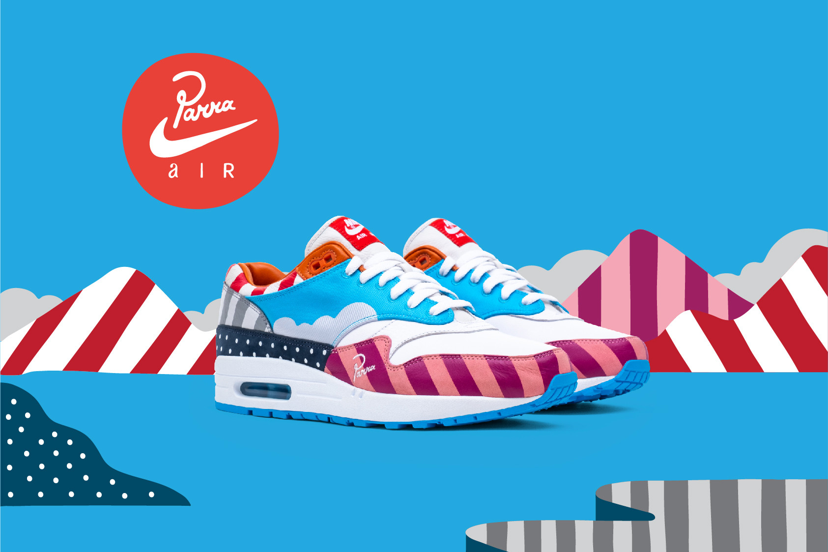 77c2c93abc Over the last week or so, Parra started to reveal some new collaborations  with Nike including his take on the Zoom Spiridon, & Air Max 1 (including a  ...