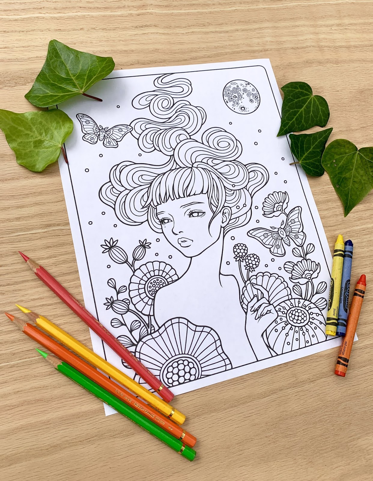 Free Coloring Pages from Archives Around the World - Art and ... | 1600x1242
