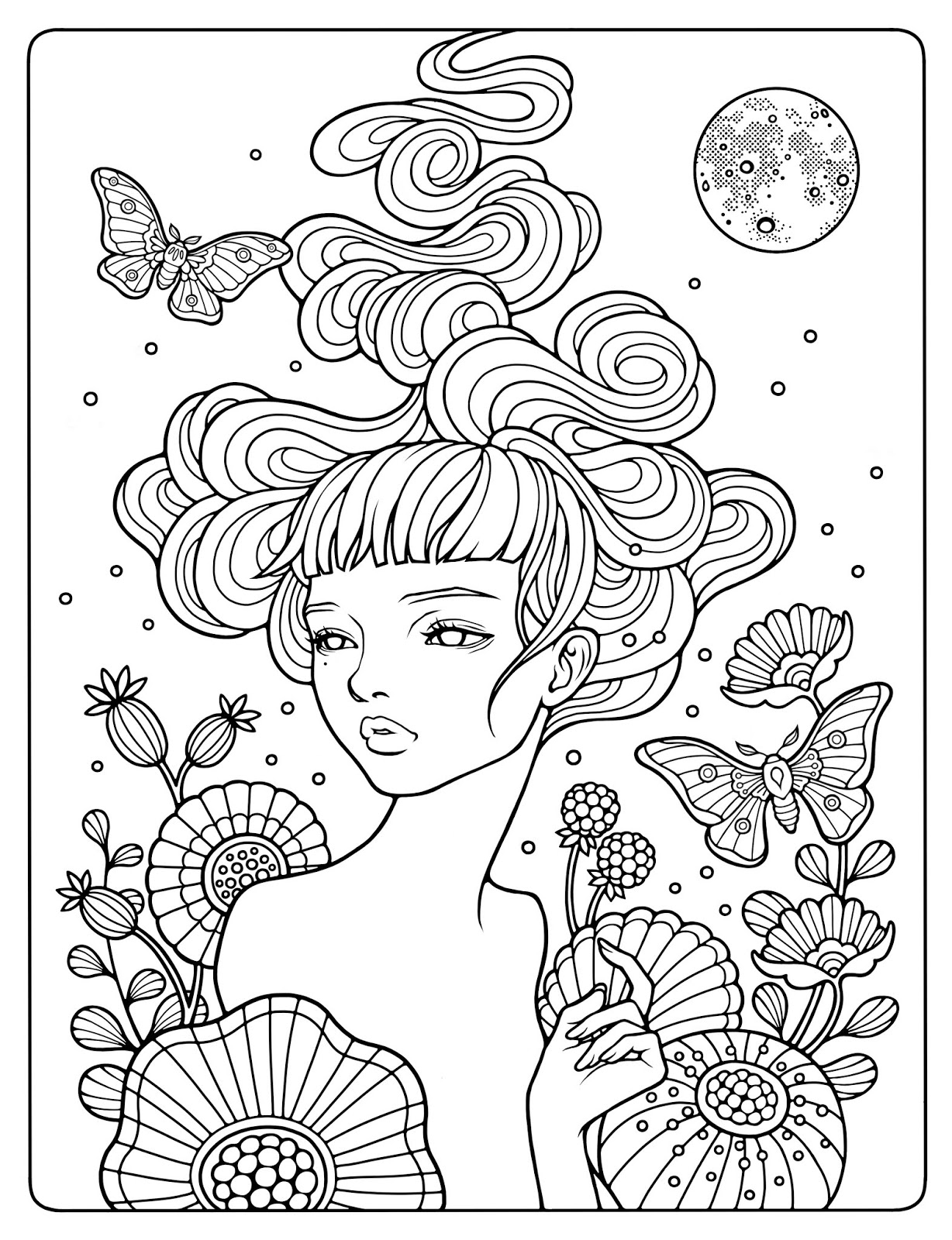 Coloring Pages for Adults - You're Awfully Pretty for an Anteater ... | 1600x1228